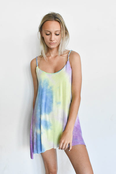 """Endless Summer"" Tie Dye Tank Dress"