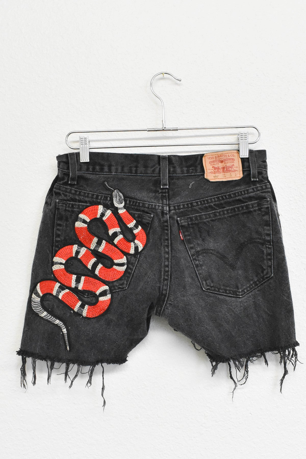 Snake Patched Shorts