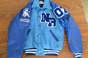 Vintage Varsity Letterman's Jacket- Blue - Shop Lost Generation  - 2