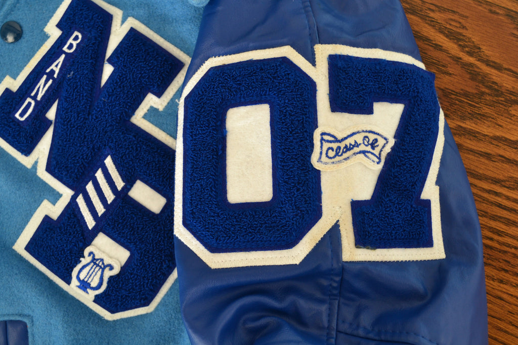 Vintage Varsity Letterman's Jacket- Blue - Shop Lost Generation  - 4