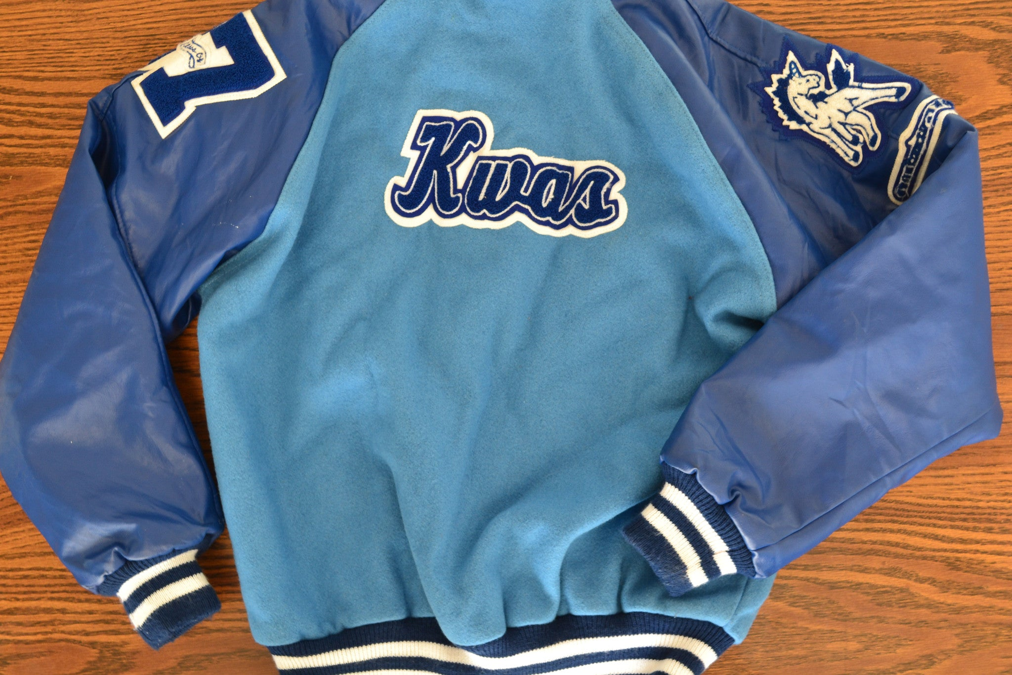 Vintage Varsity Letterman's Jacket- Blue - Shop Lost Generation  - 5