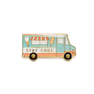 """Stay Cool"" Enamel Pin"
