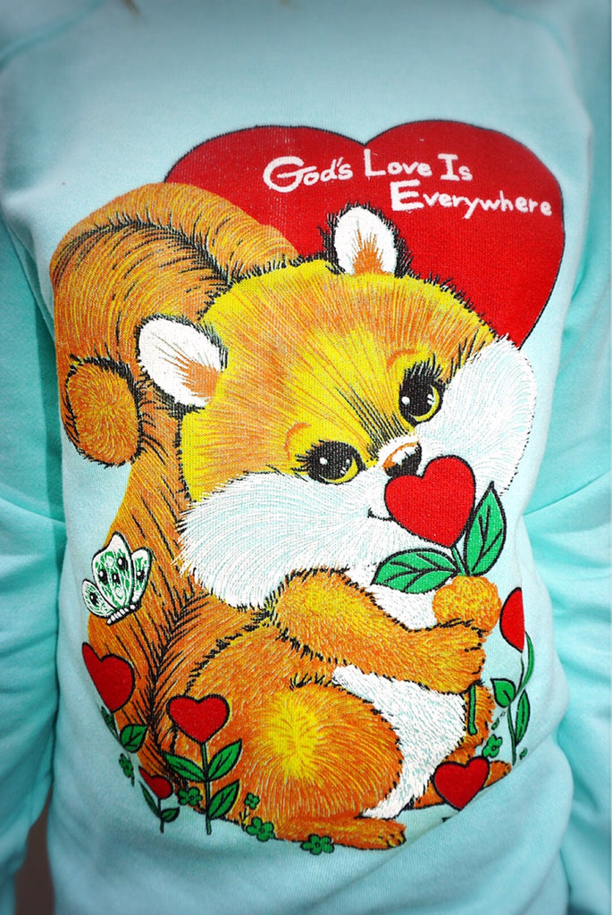 """God's Love"" Vintage Sweatshirt - Shop Lost Generation  - 2"