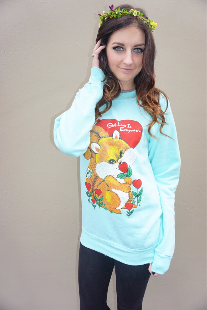 """God's Love"" Vintage Sweatshirt - Shop Lost Generation  - 4"