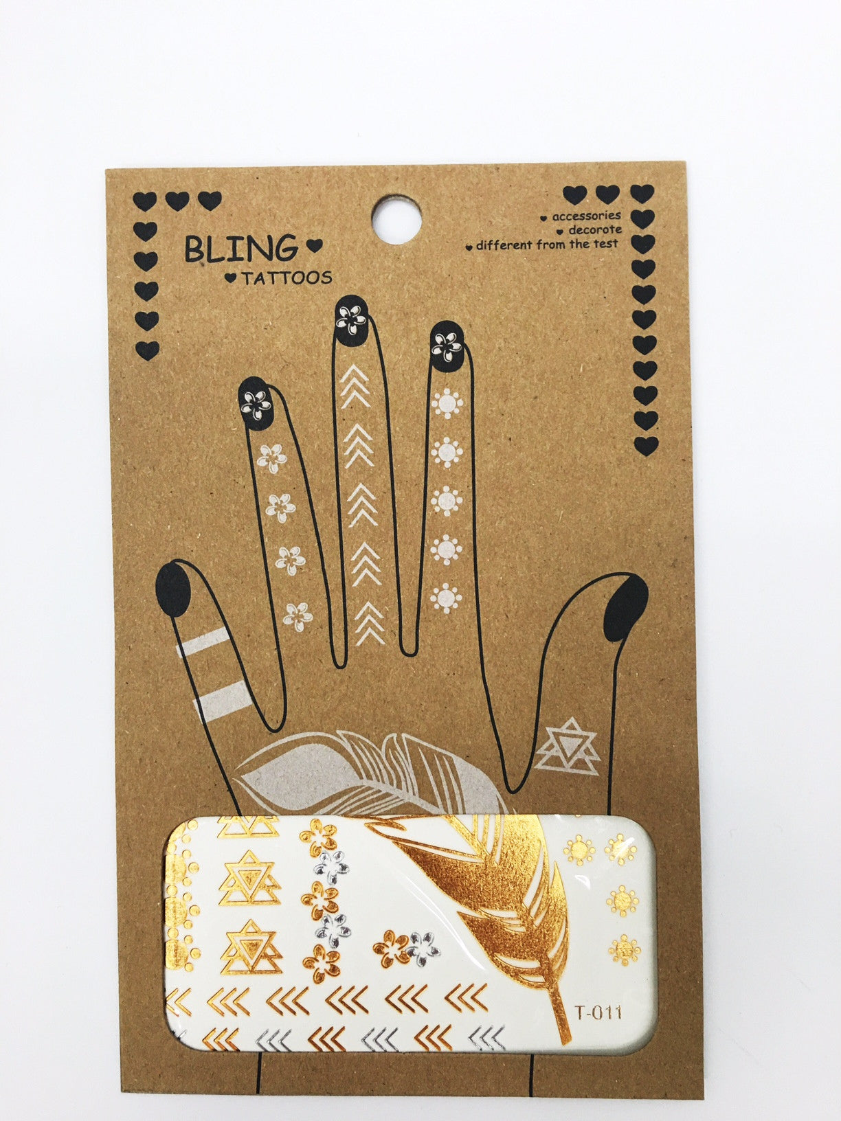 Metallic Tattoos- Hand & Finger Tattoos - Shop Lost Generation  - 2