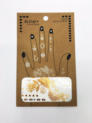 Metallic Tattoos- Hand & Finger Tattoos - Shop Lost Generation  - 3