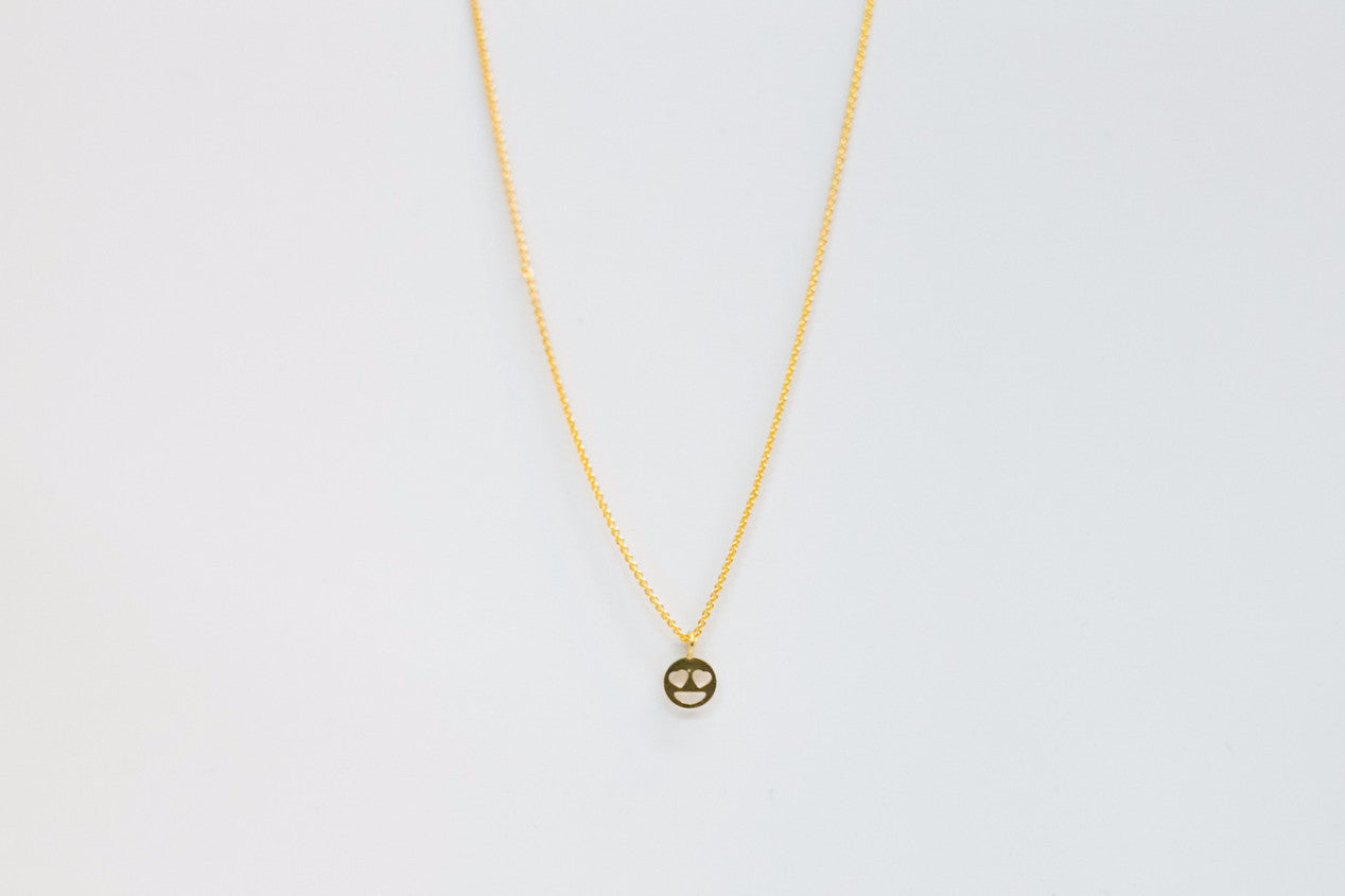 Heart Eyes Emoji Necklace - Shop Lost Generation  - 1