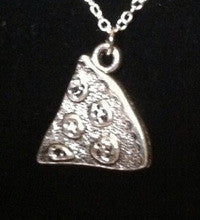 Pizza Slice Necklace Silver - Shop Lost Generation  - 2