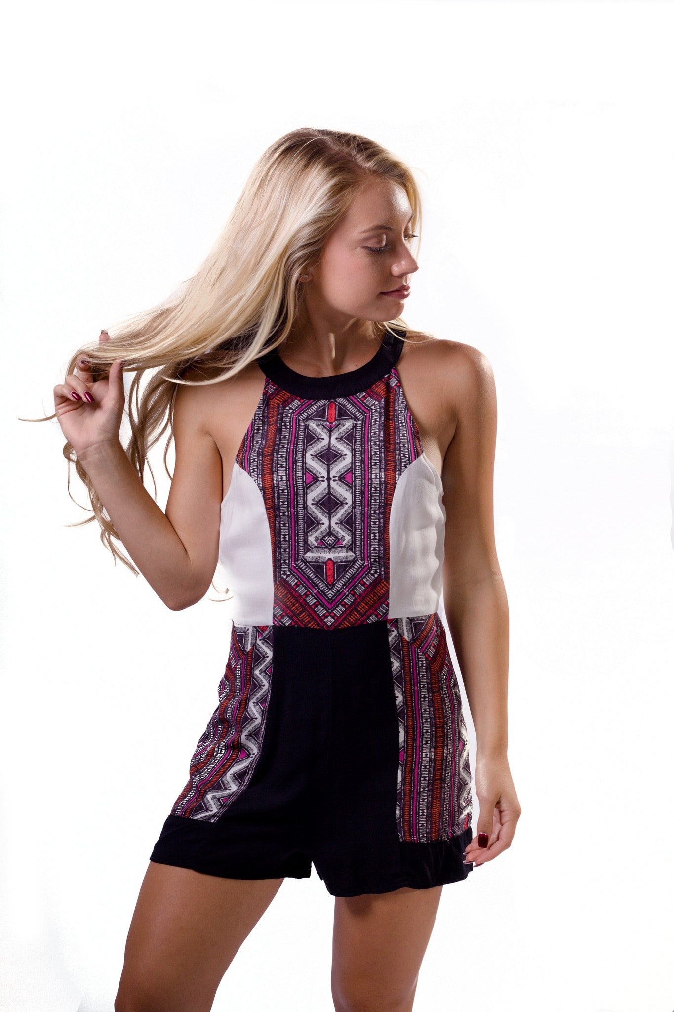 """Aztec Neon"" Romper - Shop Lost Generation  - 2"