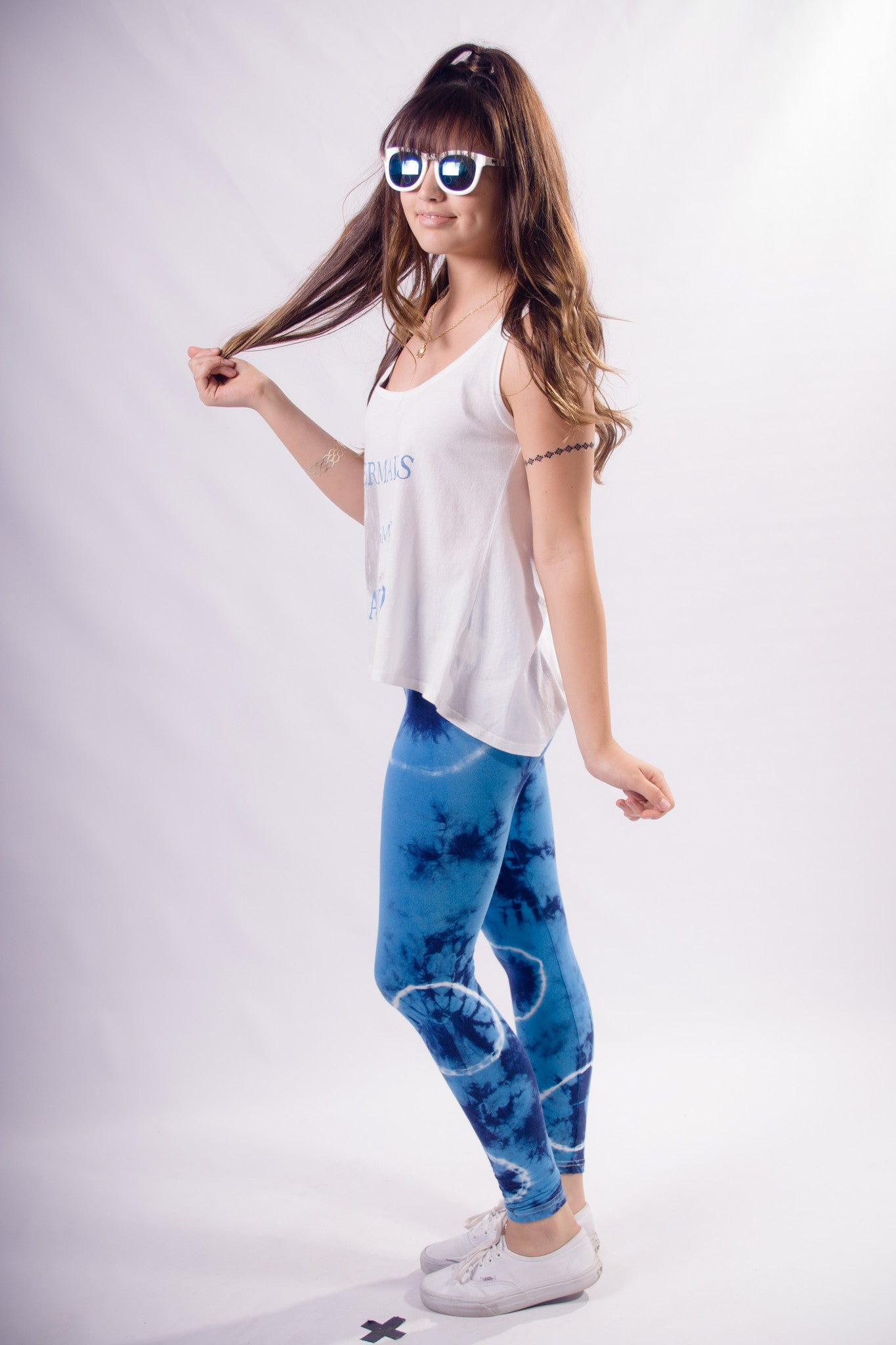 """Tutti Frutti"" Tie Dye Leggings - Shop Lost Generation  - 7"