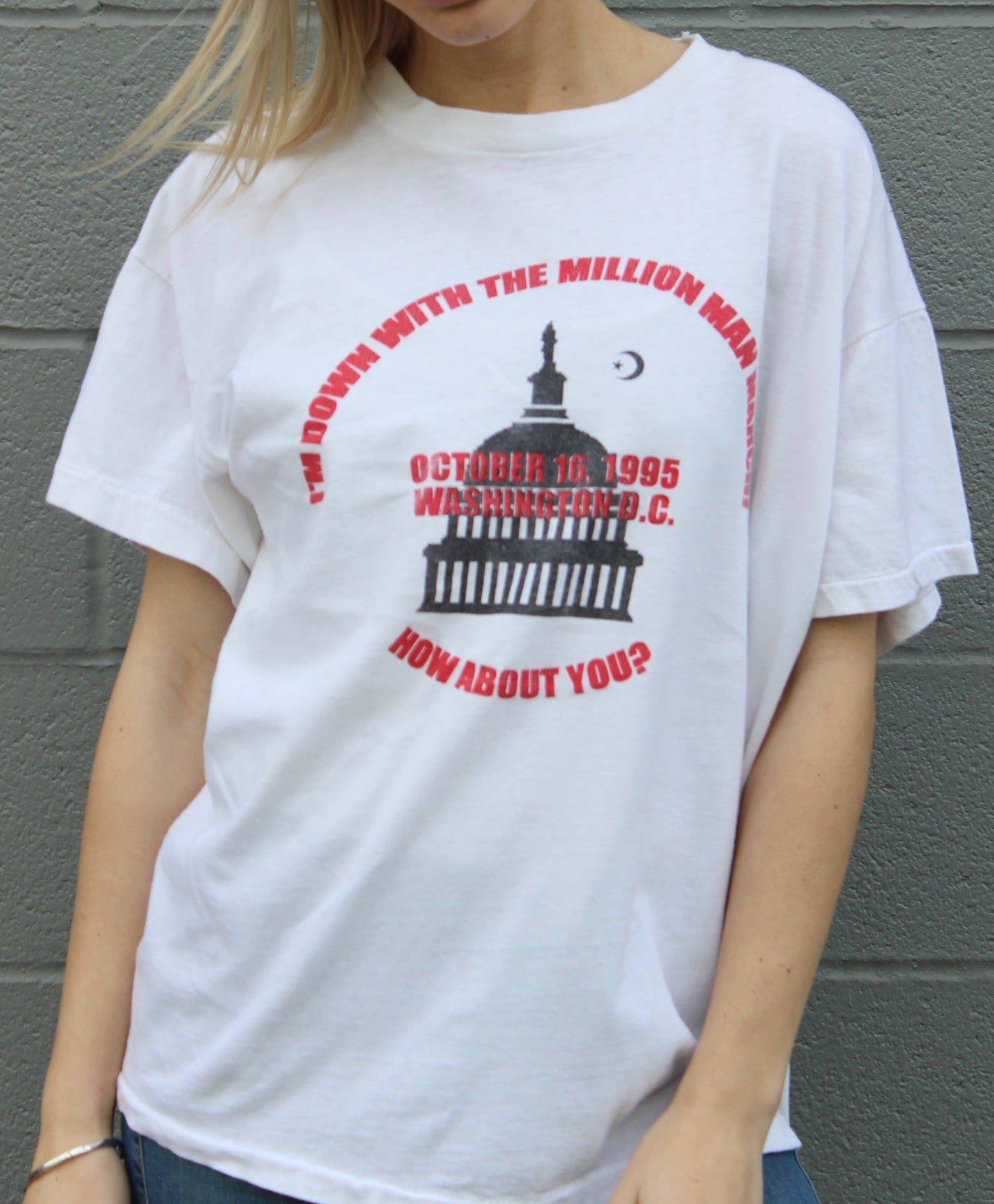 """Million Man March"" Vintage Tee"
