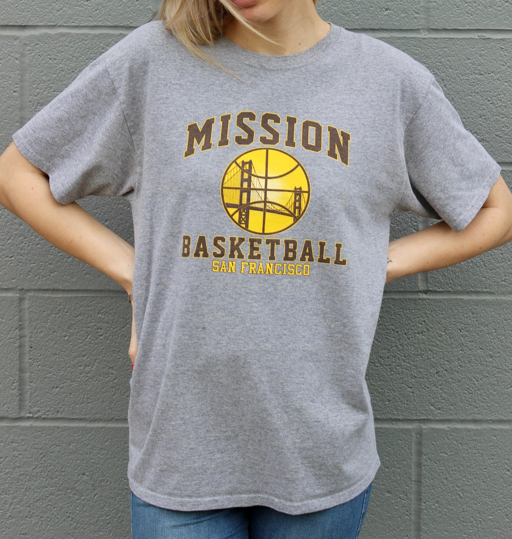 """Mission Bears Basketball"" Vintage Tee"