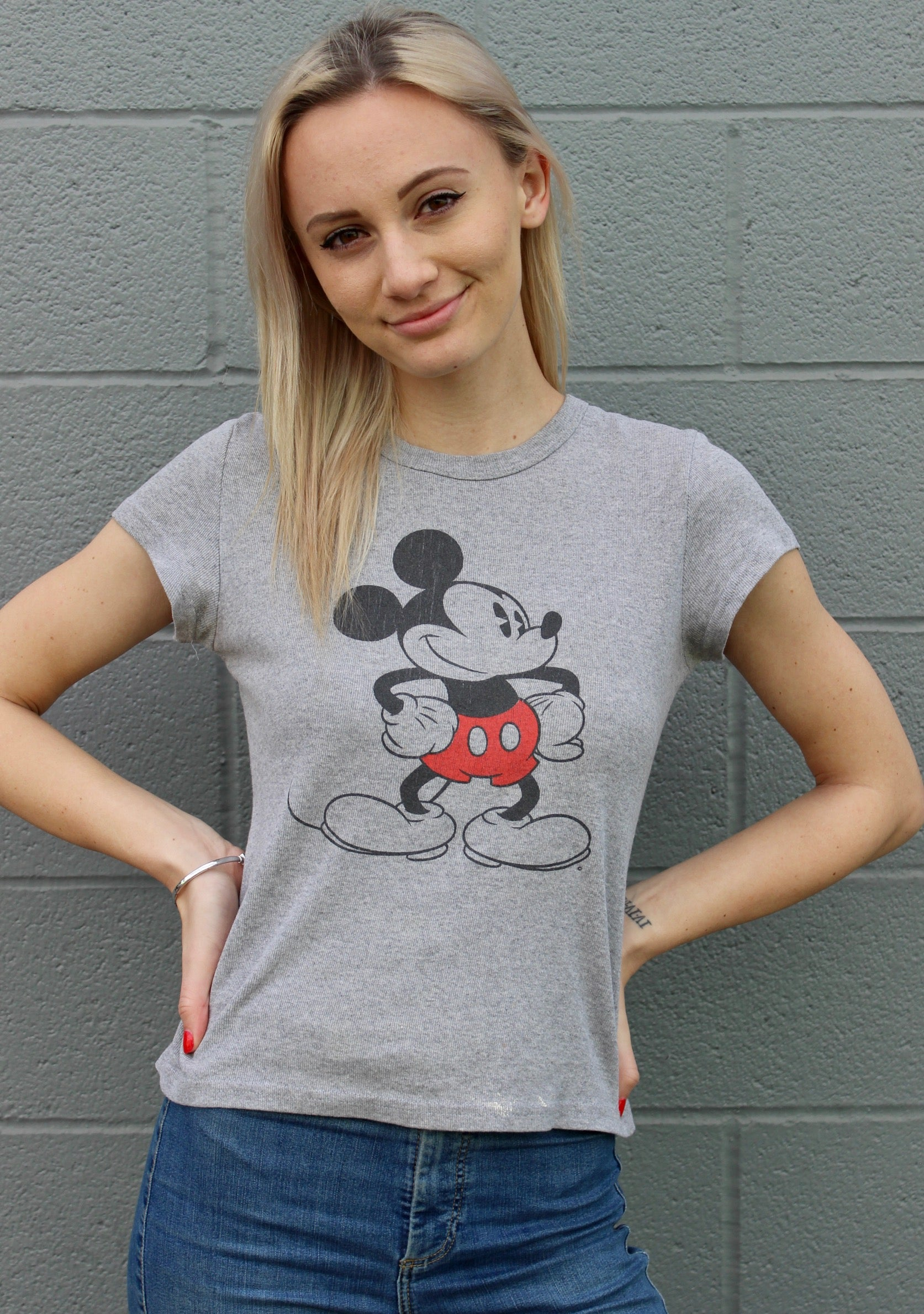 Plain Grey Mickey Tee