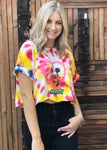 Sitting Mickey Tie Dye Crop