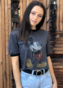Reworked Mickey Crop Tee