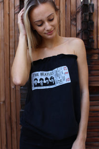 """The Beatles"" Reworked Tube Top"