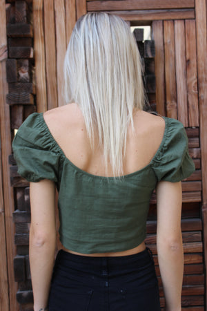 """Olive Life"" Top"