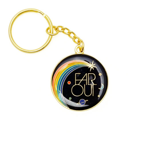 """Far Out"" Keychain"