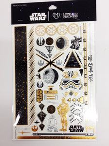 Star Wars Gold & Black Temporary Tattoos - Shop Lost Generation  - 1