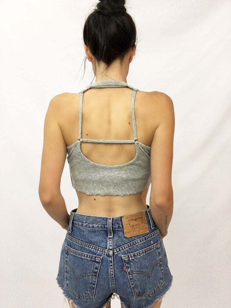 """Box Me In"" Ribbed Cotton Crop - Shop Lost Generation  - 4"