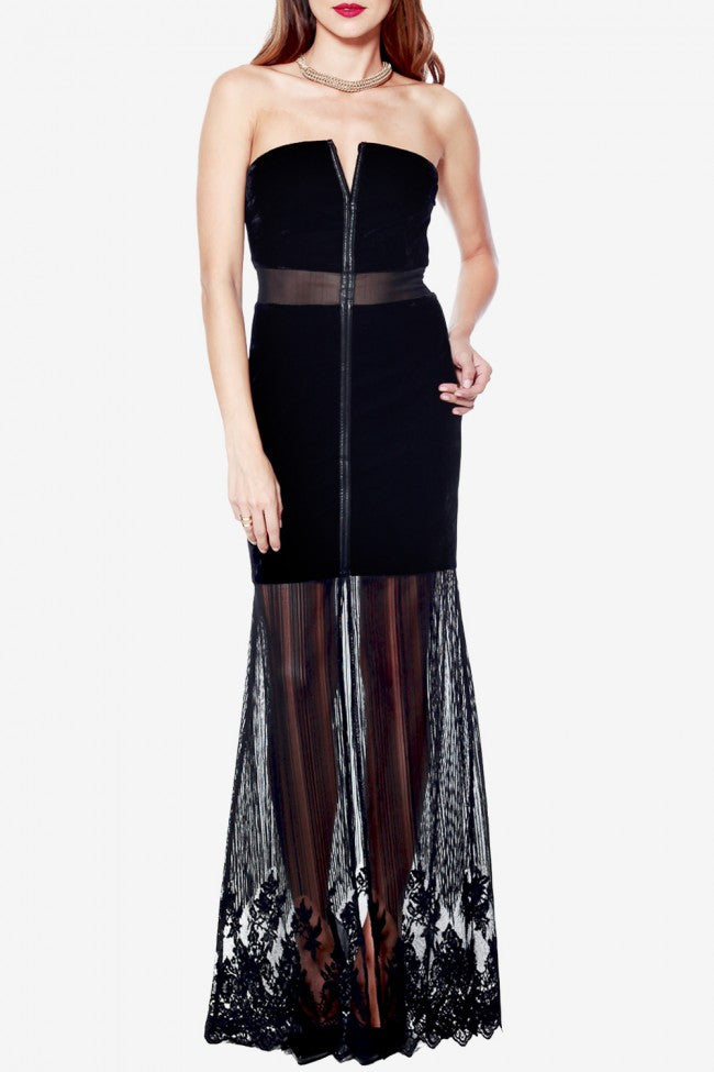 """Morticia"" Dress- Black Velvet - Shop Lost Generation  - 6"