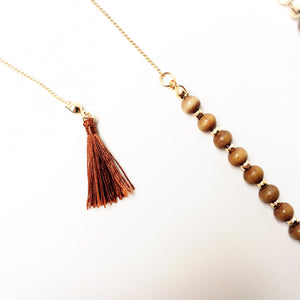 Coral & Turquoise Tassel Necklace - Shop Lost Generation  - 4