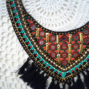 Beaded Bib Necklace - Shop Lost Generation  - 3
