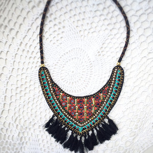 Beaded Bib Necklace - Shop Lost Generation  - 1