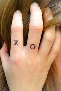 4-pack of X O Temporary Tattoos - Shop Lost Generation  - 1