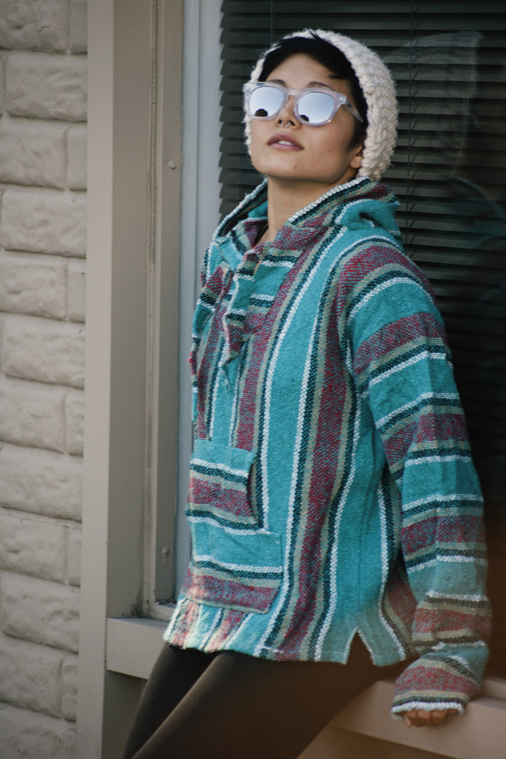 Vintage Baja Poncho - Shop Lost Generation  - 1