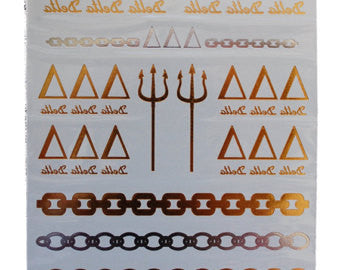Sorority Metallic Tattoos - Shop Lost Generation  - 5