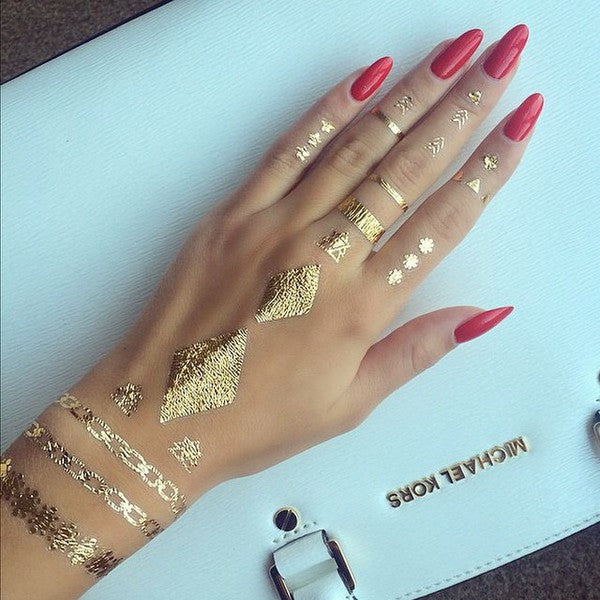 Metallic Tattoos- Hand & Finger Tattoos - Shop Lost Generation  - 4