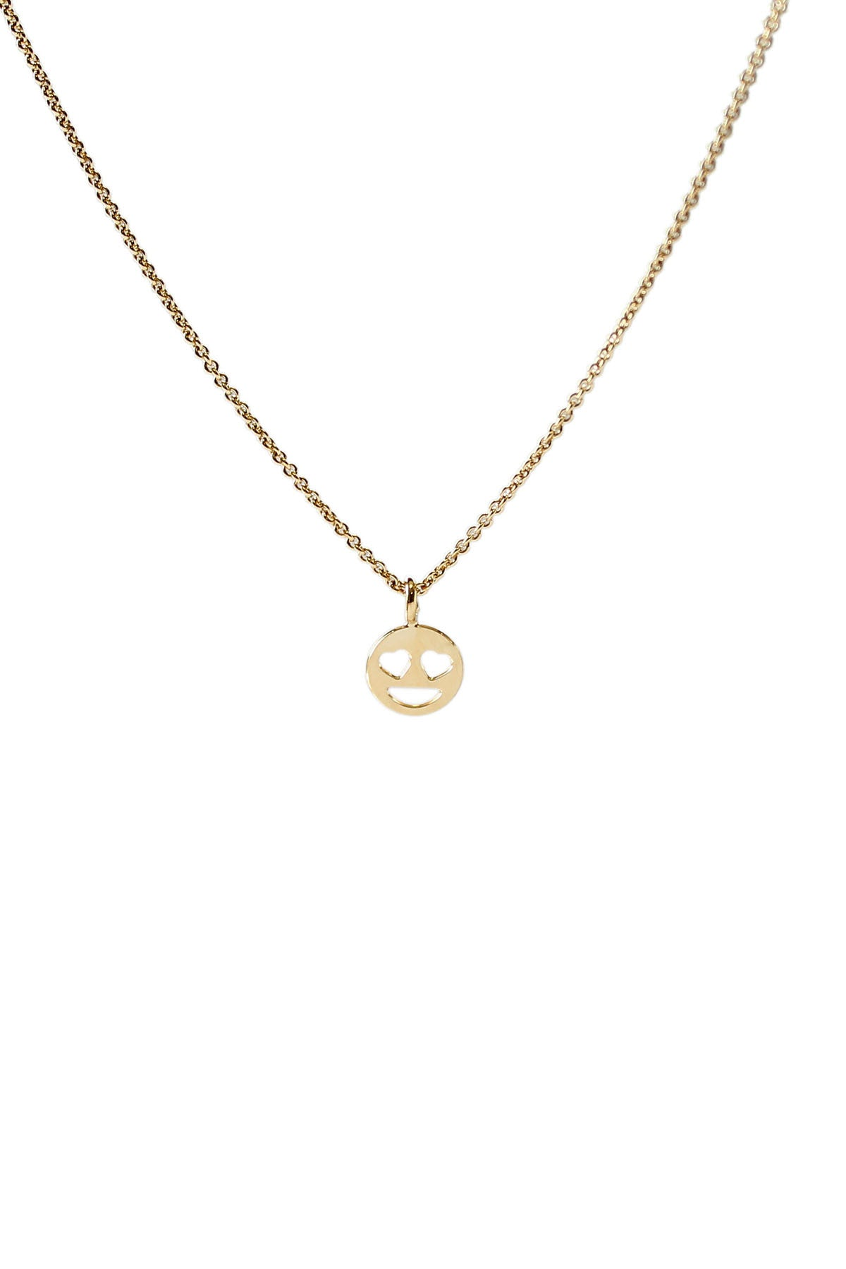 """Heart Eyes"" Emoji Necklace by Kris Nations"