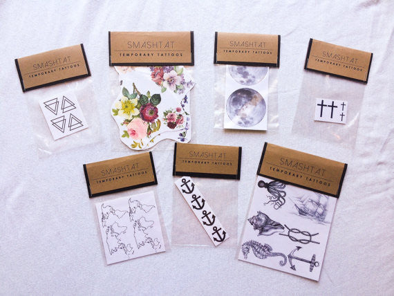 4-pack of X O Temporary Tattoos - Shop Lost Generation  - 2