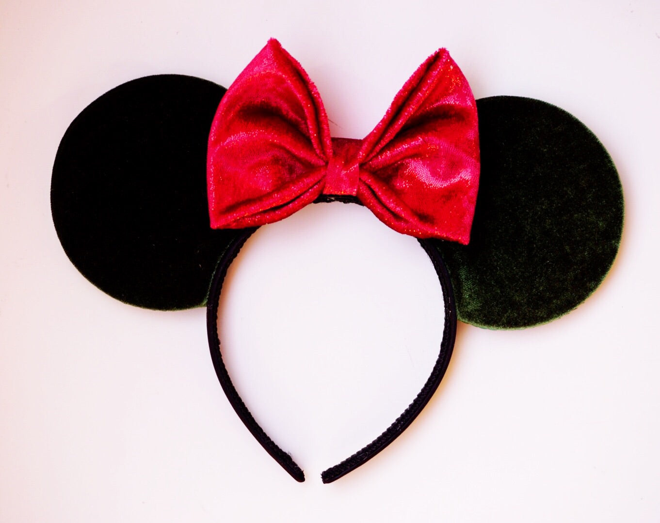 Green Velvet Mouse Ears