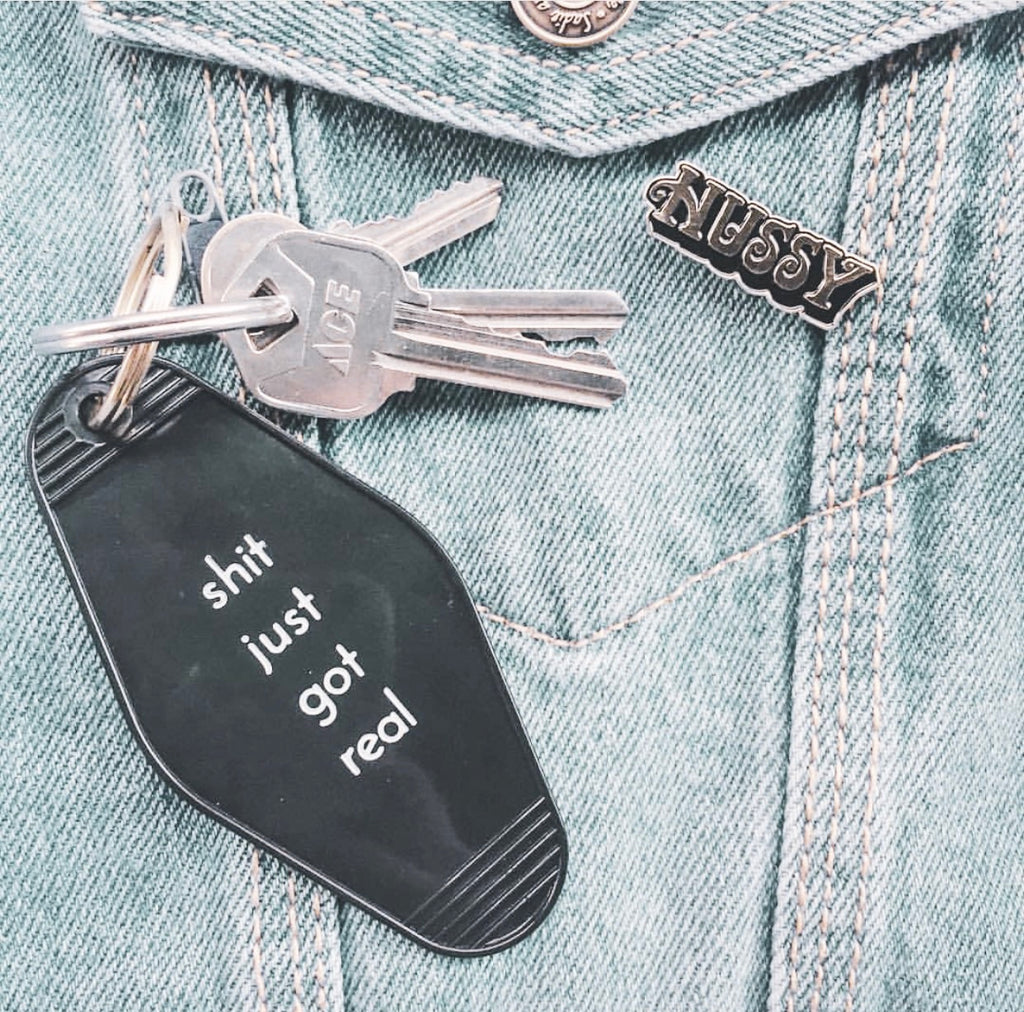 Shit Just Got Real Key Tag
