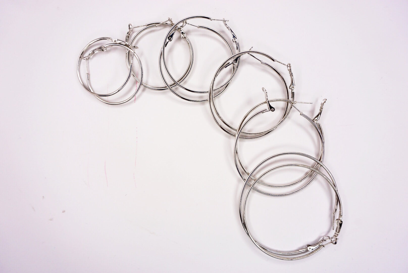 Extra Large Silver Hoop Earrings