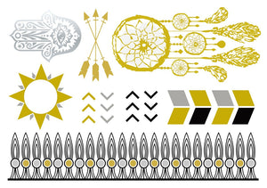 Metallic Tattoos- Boho Mix - Shop Lost Generation  - 1