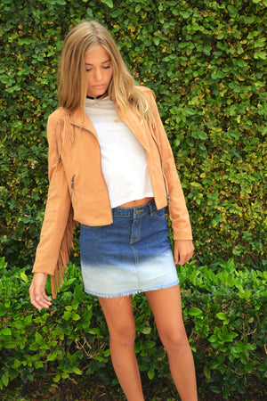 """Valley Girl"" Ombre Denim Skirt"