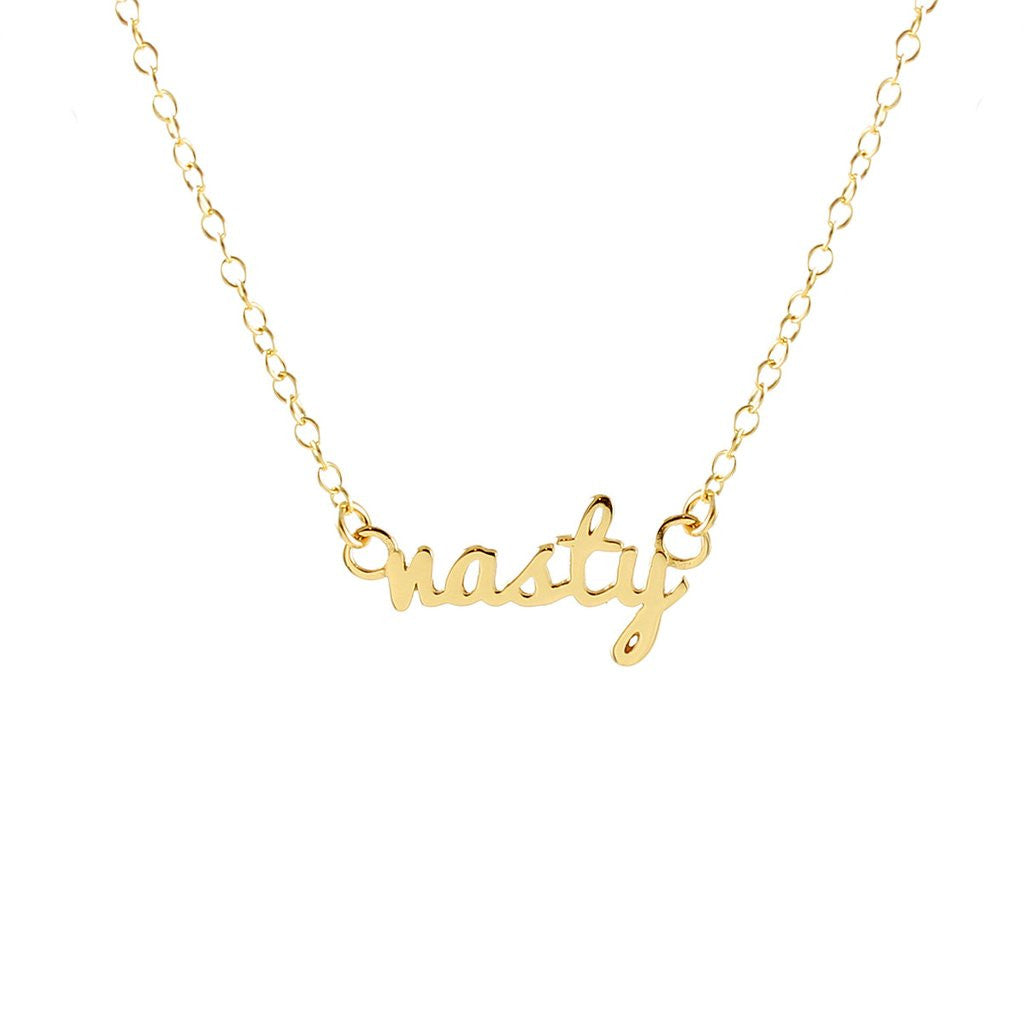 Nasty Script Necklace