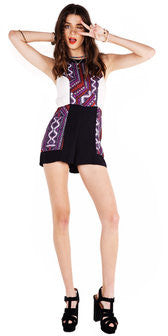 """Aztec Neon"" Romper - Shop Lost Generation  - 5"