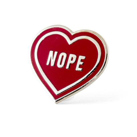 """Nope"" Heart Enamel Pin"