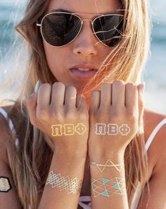 Sorority Metallic Tattoos - Shop Lost Generation  - 1