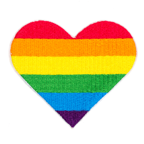 """Rainbow Pride"" Heart Patch"