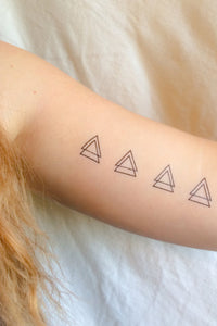 Double Triangle Temporary Tattoos (4 Pack)