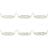Kris Nations Naughty Zodiac Bar Necklace - Shop Lost Generation  - 5