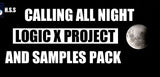 Calling All Night - Chilled D&B(Drum & Bass) Logic X Project Template & Samples Pack