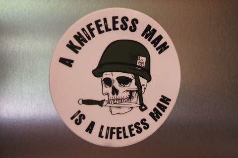 Knifeless Man Sticker