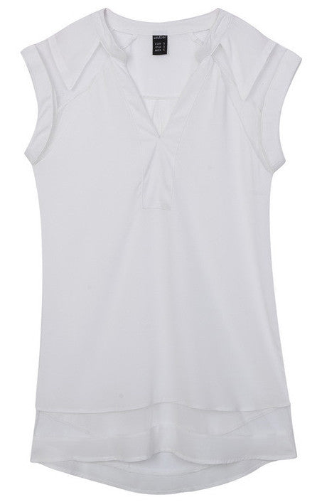 Transparent Patchwork Tank Top Blouse - 3 colors