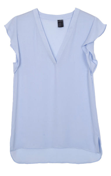 Wavy Sleeves Blouse - 4 colors